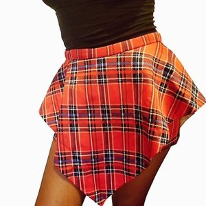 Ava Red Plaid 2 in 1 Pants/Skirt Skort Size XS